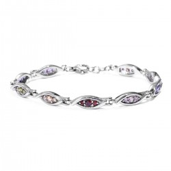 Simulated Multi Color Diamond Bracelet