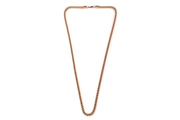 Franco Necklace in ION Plated Rose Gold Stainless Steel