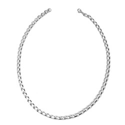 Curb Chain Necklace 20 Inch in Stainless Steel