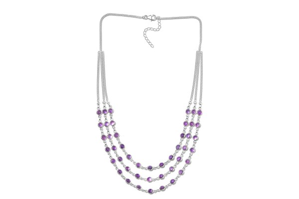 Amethyst Drape Necklace