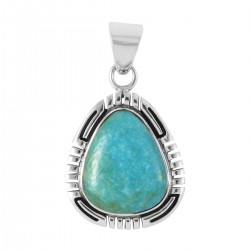 Kingman Turquoise Pendant in Sterling Silver