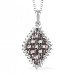 Color Change Garnet and Zircon Pendant Necklace