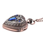 STRADA Simulated Blue Sapphire Japanese Movement Pocket Watch