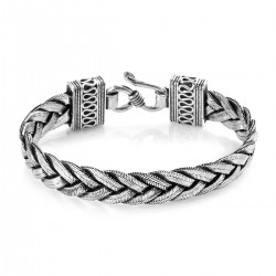 Artisan Crafted Braided Bracelet Sterling Silver