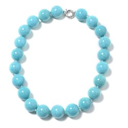 Blue Howlite Beads Necklace