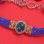 Shattuckite and Enhanced Blue Agate Bracelet