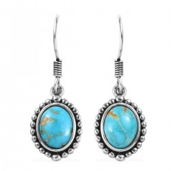 South Hill Turquoise Earrings in Sterling Silver