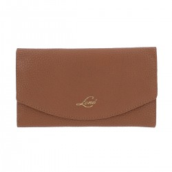 Lene Collection Brown 100% Genuine Leather Flap Wallet