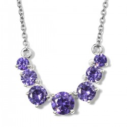 Simulated Purple Diamond Necklace