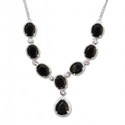 Shungite and Multi Gemstone Necklace