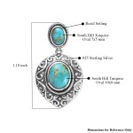 South Hill Turquoise Pendant in Sterling Silver