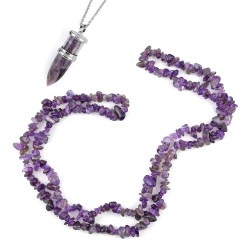 Amethyst Pendant With Necklace